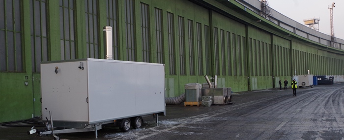Heizungsanlage am Flughafen Berlin-Tempelhof Hangarbeheizung